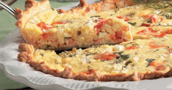 Salmon and Feta Pie