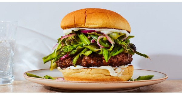 Spiced Lamb Burgers with Spring Slaw