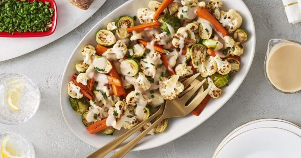 Chai Roasted Vegetables and Cheese