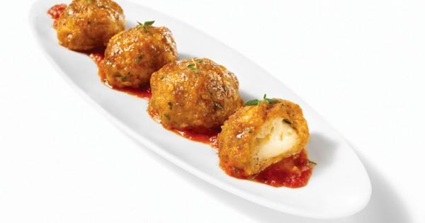 Spicy Italian sausage and bocconcini balls