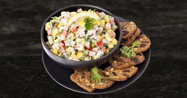 Ham and corn tartare