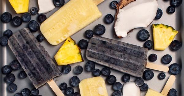 Pineapple & Blueberry Coconut Pops