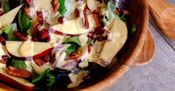 Fall Salad with Pumpkin Dressing