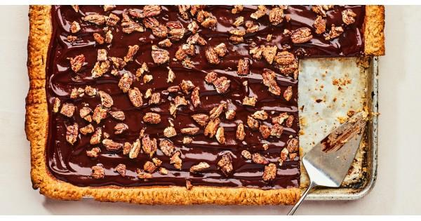 Chocolate-Pecan Sheet Pie with Molasses Recipe