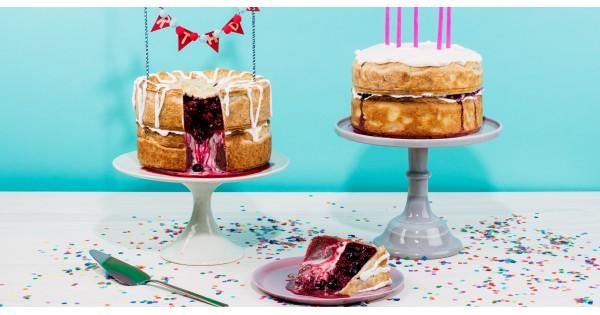 Double-Decker Chocolate and Cherry-Raspberry Birthday Pie Recipe