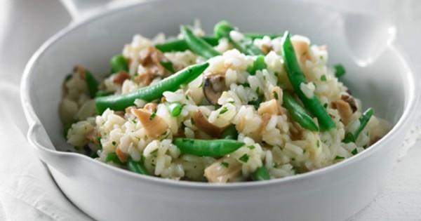 Green Bean and Mushroom Risotto